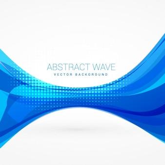 Résumé de fond avec vague bleue