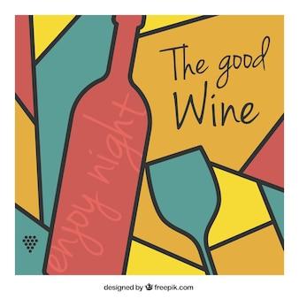 Résumé de fond de vin