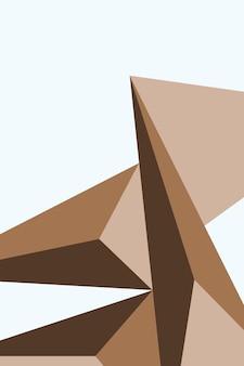 Résumé, formes carage, brun, tan illustration vectorielle de fond d'écran.