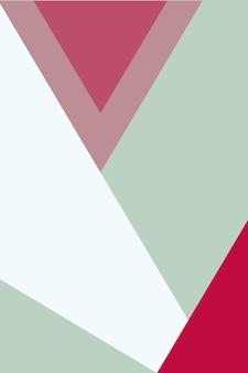 Résumé, formes seafoam vert, rose rouge, rose vif, illustration vectorielle de fond d'écran rosewater.