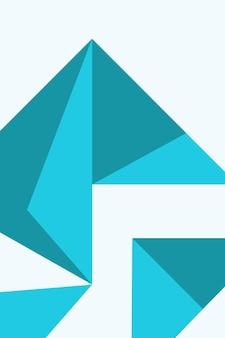 Résumé, formes tiffany bleu, bleu vert papier peint fond illustration vectorielle.