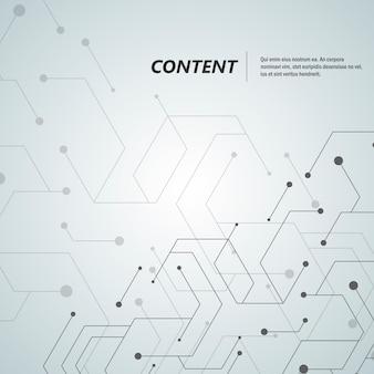 Résumé hexagone connecter fond