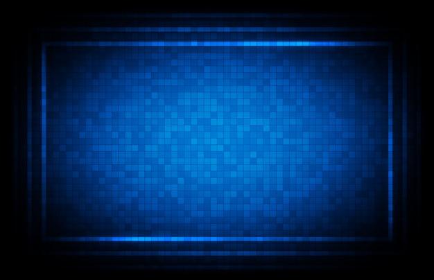 Résumé historique de fond de technologie d'interface interface utilisateur hud bleu
