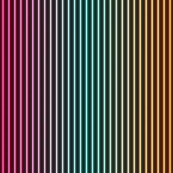 Résumé historique des lignes verticales au néon. illustration de stock