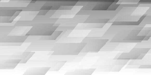 Résumé historique de parallélogrammes croisés constitués de points, en couleurs grises