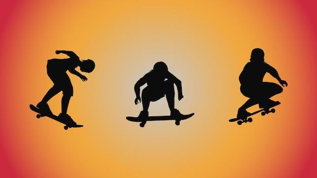 Résumé historique de la silhouette skateboard pose move trick