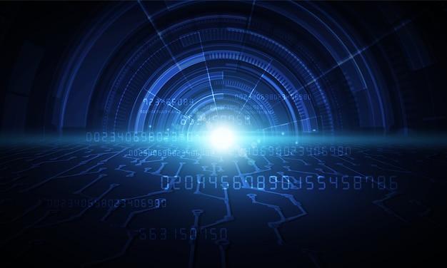 Résumé historique de la technologie hitech communication concept innovation fond