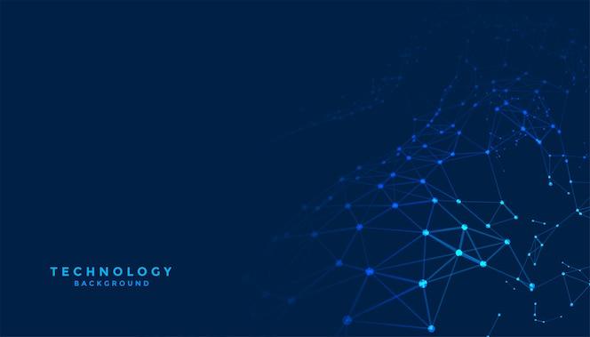 Résumé historique de la technologie numérique avec des lignes de connexion réseau