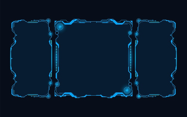 Résumé de hud futuriste fond de concept futur thème monochrome bleu.