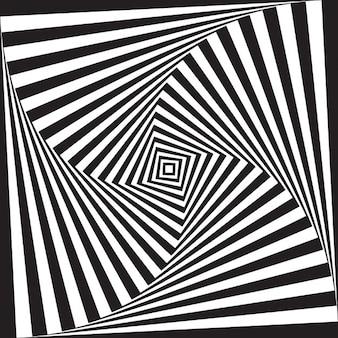 Résumé illusion d'optique design fond noir et blanc