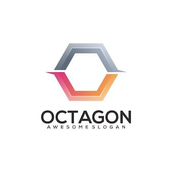Résumé de l'illustration du logo dégradé hexagonal