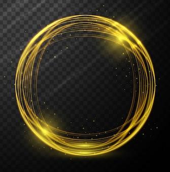 Résumé incandescent cercle fond