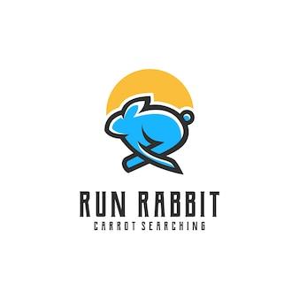 Résumé d'inspiration de logo de lapin