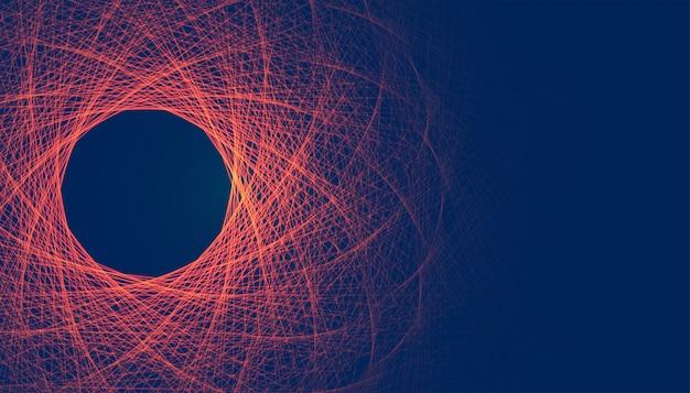 Résumé des lignes fractales rougeoyantes maille fond numérique