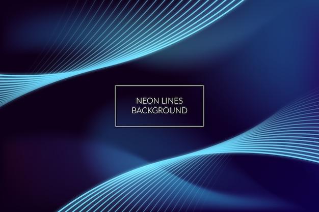 Résumé de lignes de néon de fond