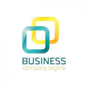 Résumé logo faite avec des carrés arrondis