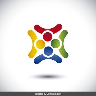 Résumé logo de forme carrée