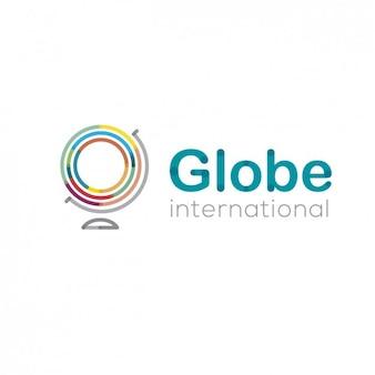 Résumé logo avec un globe terrestre