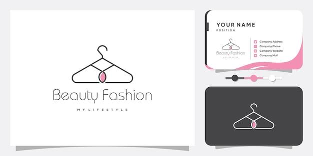 Résumé de logo de mode avec concept créatif vecteur premium