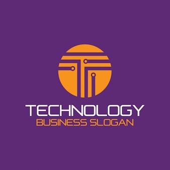 Résumé logo de la technologie