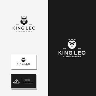 Résumé de logo vecteur roi leo