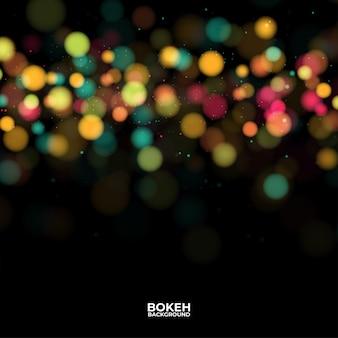 Résumé des lumières scintillantes. illustration sombre de bokeh défocalisé