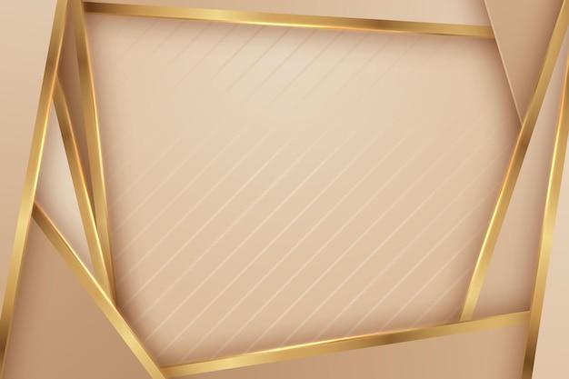 Résumé de luxe avec des lignes dorées