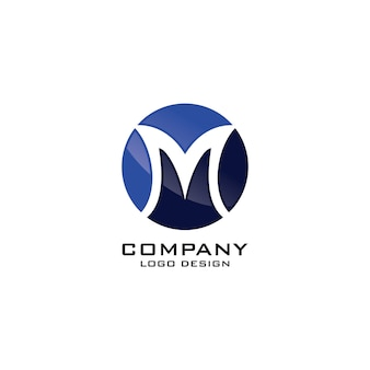 Résumé m lettre logo modèle vector