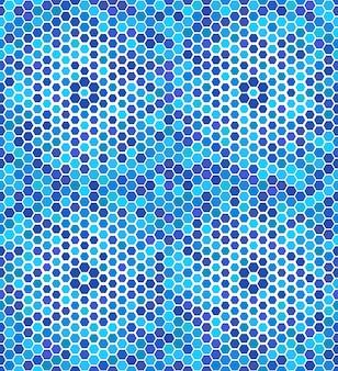 Résumé motif transparent de l'hexagone bleu