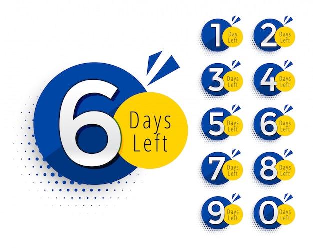 Résumé nombre de jours restants conception du symbole