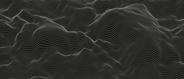 Résumé des ondes de la ligne sonore monochrome