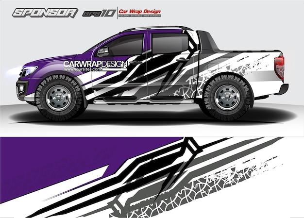 Résumé pour camion, conception d'enveloppe de voiture de course et livrée de véhicule