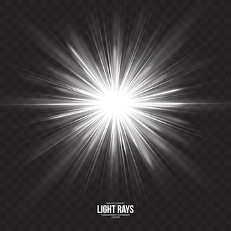 Résumé des rayons de lumière effet vectoriel