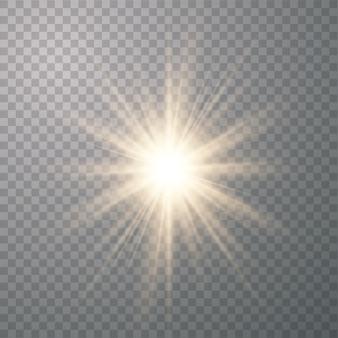 Résumé des rayons d'or brillent