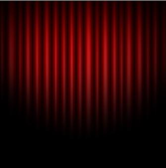 Résumé de rideau de fond rouge