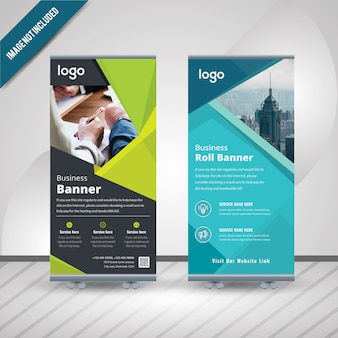 Résumé roll up banner design