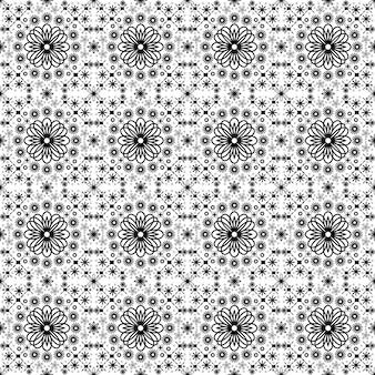Résumé simple motif floral sans soudure motif géométrique set vector illustration