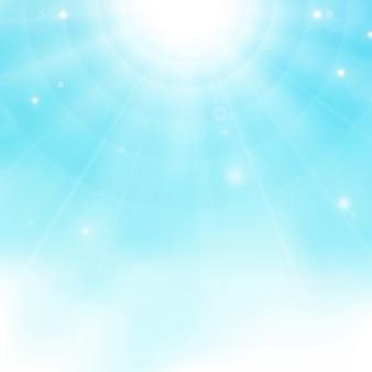Résumé de soleil réaliste coloré éclaté