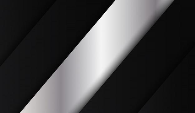 Résumé tech fond métallique noir