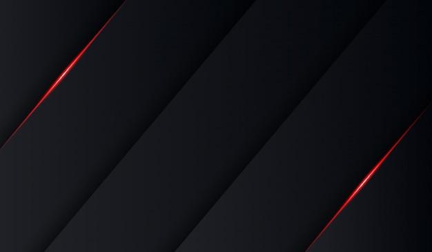 Résumé tech noir brillant rouge plier ombre fond