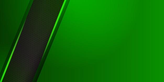 Résumé d'en-tête web vert moderne.