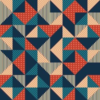 Résumé de triangle géométrique avec fond vintage coloré