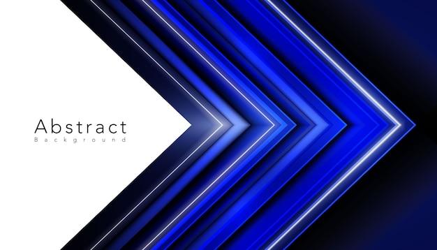 Résumé de triangles vibrants bleus