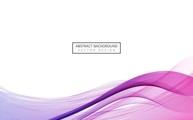 Résumé vague dynamique bleu et violet.