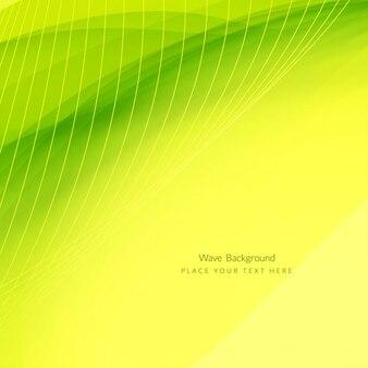 Résumé vague verte design élégant de fond