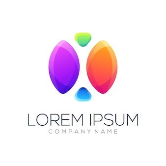 Résumé de vecteur de conception de logo personne