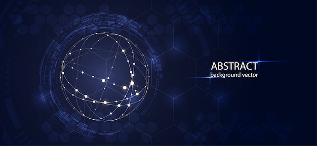 Résumé de vecteur de technologie. pour les affaires, la science, la conception de la technologie.