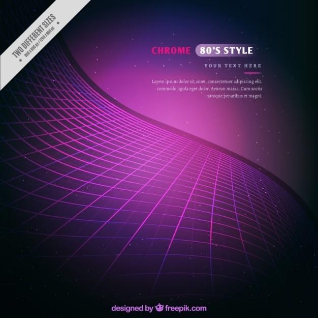 Résumé violet grille ondulée fond
