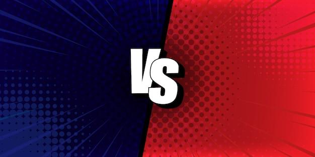 Résumé vs fond bleu et rouge