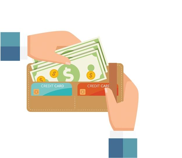 Retirer de l'argent du portefeuille
